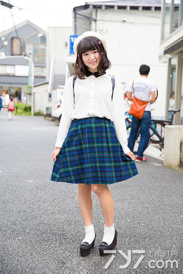 日本原宿街拍图片:原宿风图片女生街拍