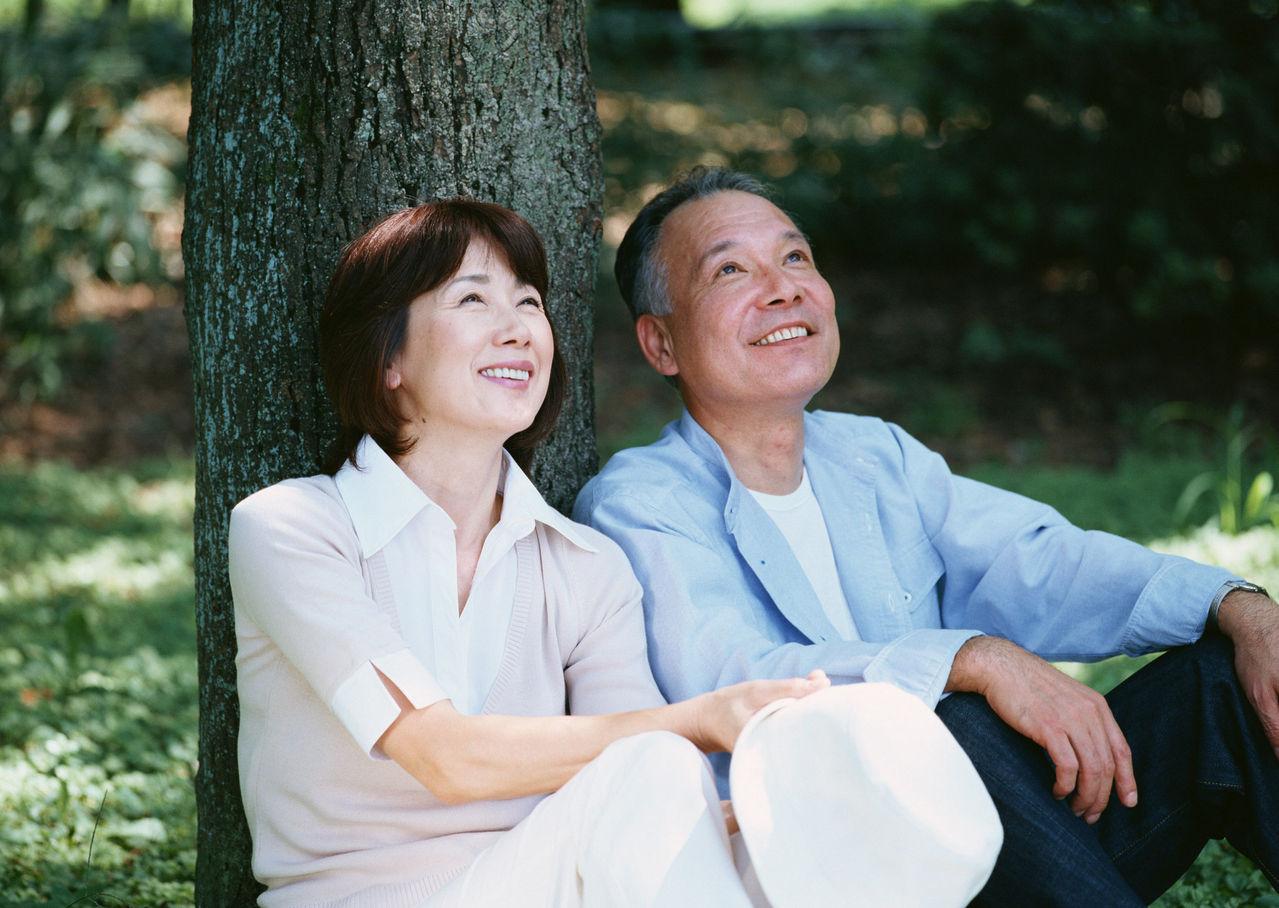 老头跟老太太唯美图片 老头老太太情侣图片