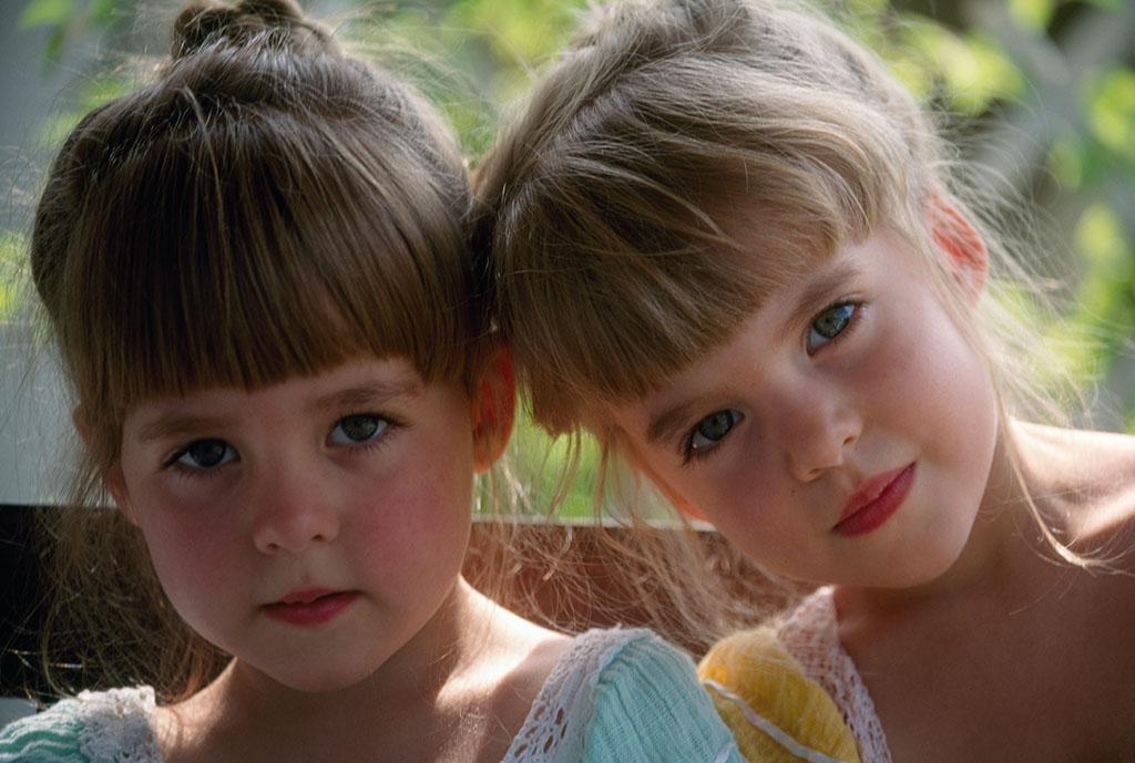 姐妹宝宝图片唯美图片