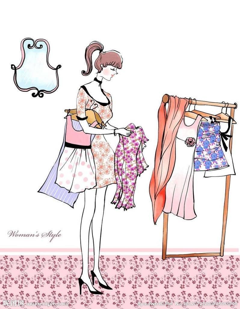 卖衣服的图片文字图片