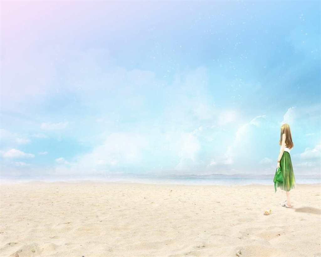 一个人的海天,孤独却恣意.外物纷扰离我远…