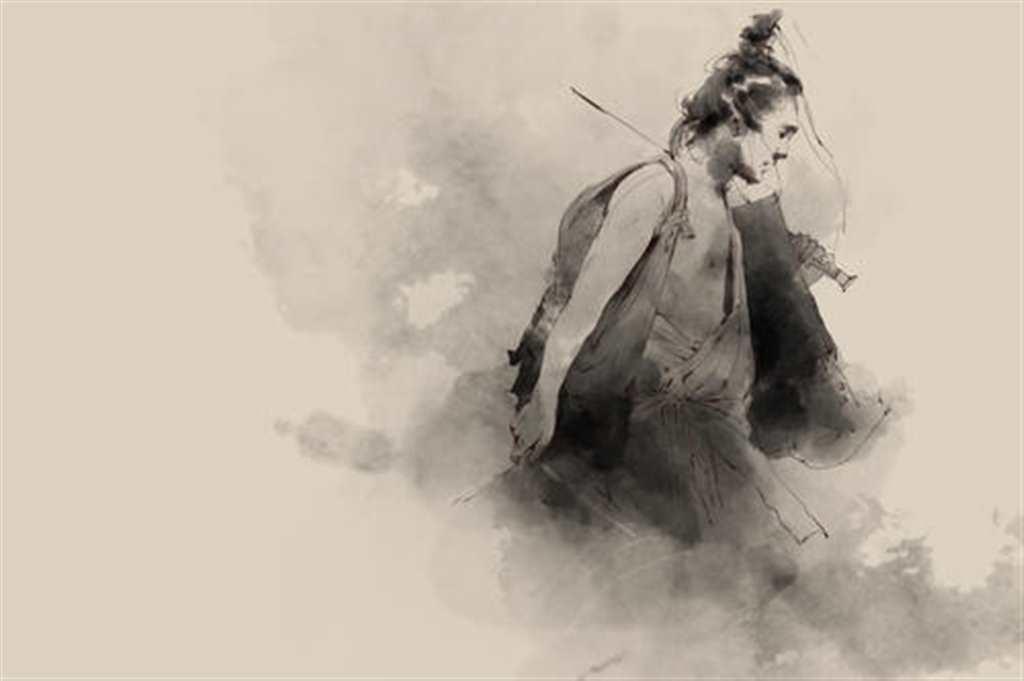东风吹醒英雄梦笑对青山万重天#古风#手绘