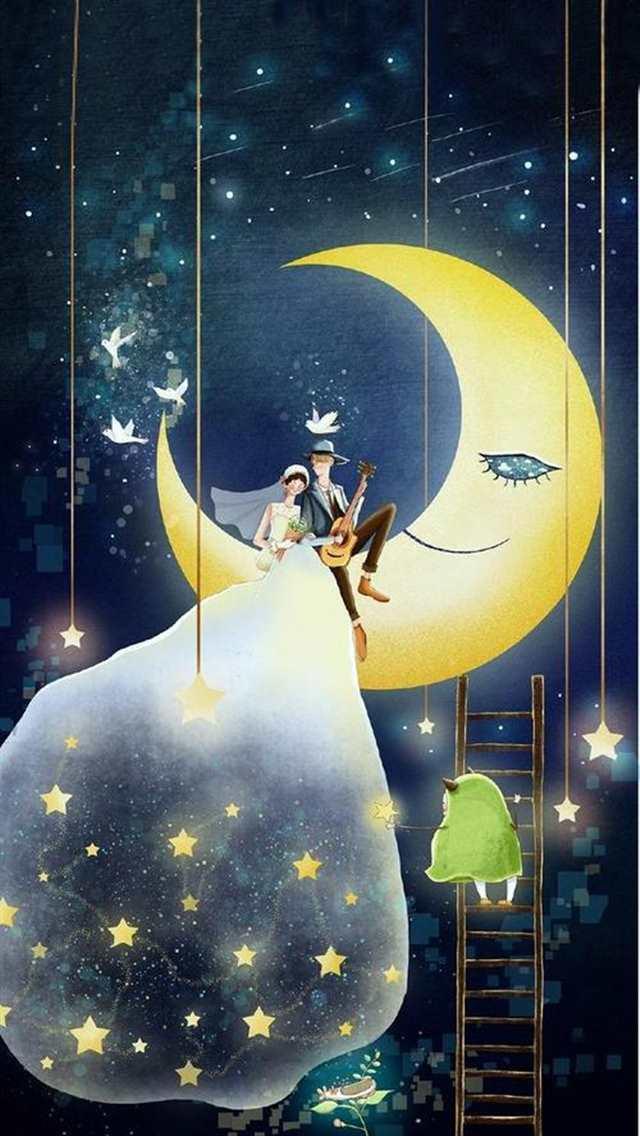 晚安心语说说感悟句子#阳光#手绘#卡通#情侣