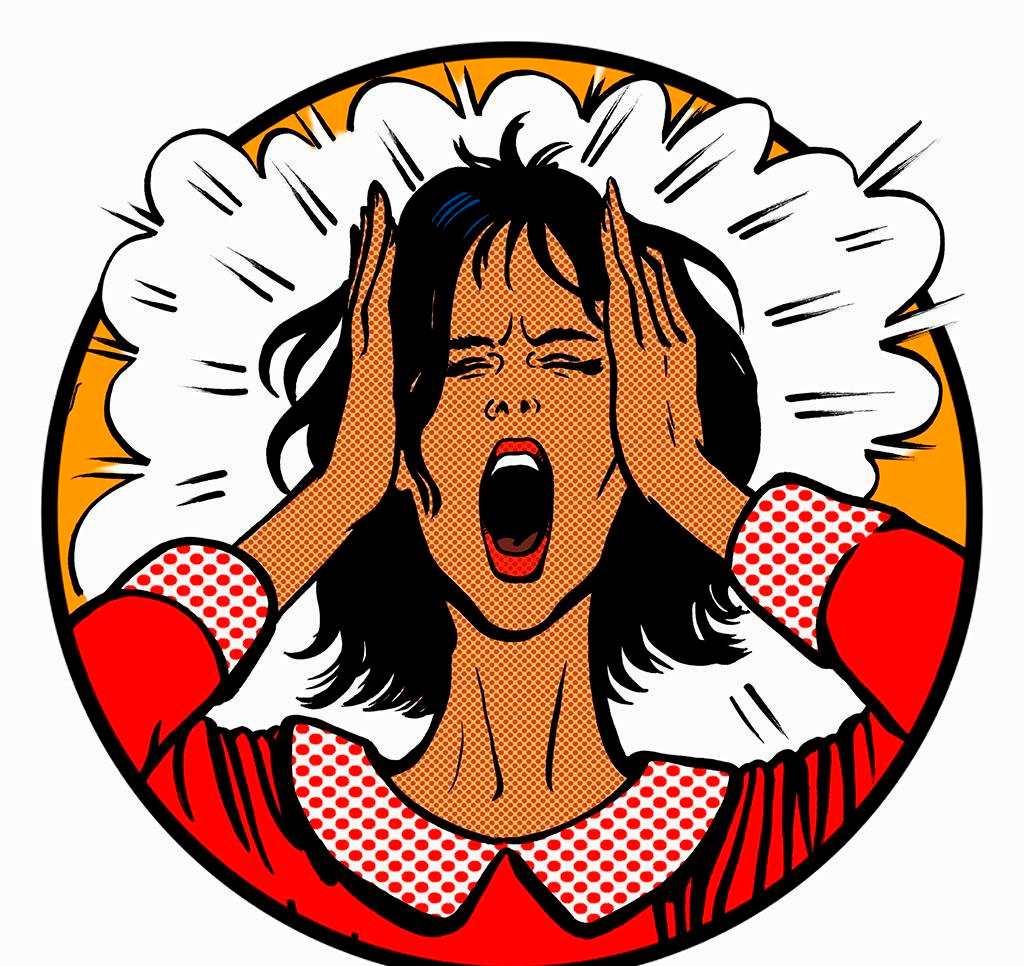 生气会加快衰老#女生#女人#卡通